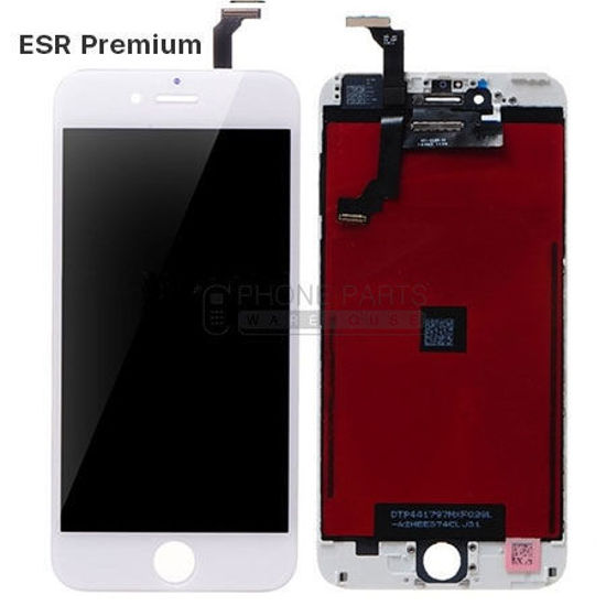 Picture of iPhone 6 Compatible LCD Screen Assembly with Touch and Frame [ESR Premium][White]