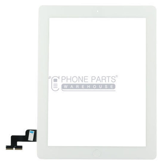 Picture of iPad 2 OEM Touch Screen Digitizer Glass with Home Button and Adhesive in White