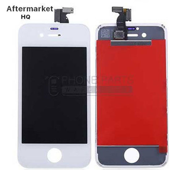 Picture of iPhone 4 Compatible LCD Screen Assembly Aftermarket High Quality White