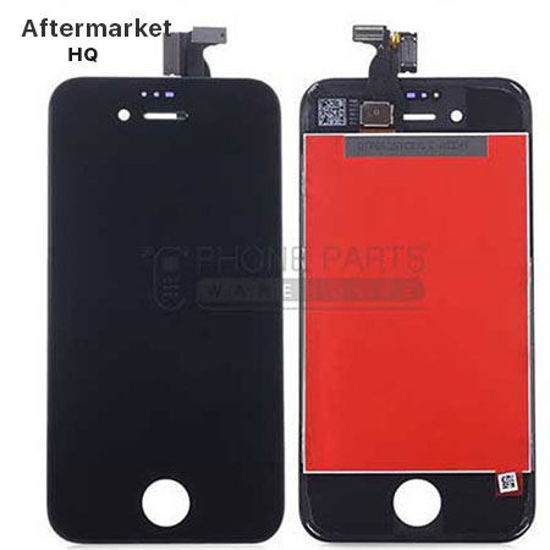 Picture of iPhone 4 Compatible LCD Screen Assembly Aftermarket High Quality Black