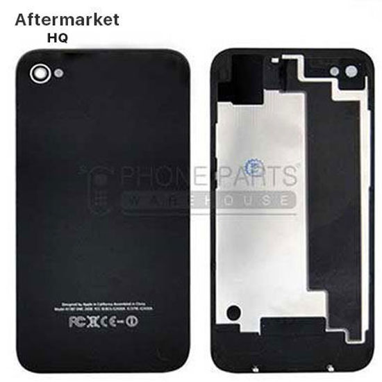 Picture of iPhone 4 Compatible Back Cover Assembly Aftermarket Black