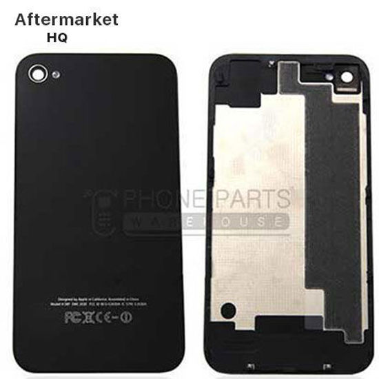 Picture of iPhone 4s Compatible Back Cover Assembly Aftermarket Black