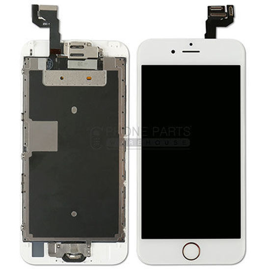 Picture of iPhone 6S Genuine LCD Screen with Parts  -White [Grade-A Tested Parts Come From 14 Days Used Phone]