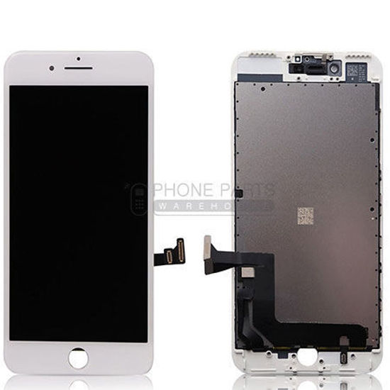Picture of iPhone 7 Plus Genuine LCD Screen with Parts White  [Grade-A Tested Parts Come From 14 Days Used Phone]