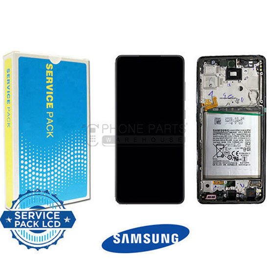 Picture of Galaxy A72  (A-725 / A-726) LCD Screen Digitizer Assembly With Frame And Battery [Service Pack] [Black]
