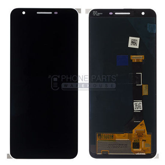 Picture of Google Pixel 3A Complete Lcd with Digitizer Assembly in [Black] [Ori]
