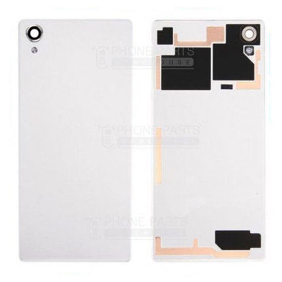 Picture of Xperia X Battery Back Cover With Sticker [Silver / White]